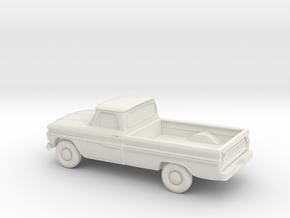 1/87 1966 Chevrolet Pickup in White Natural Versatile Plastic