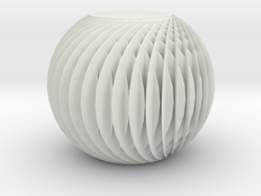 Textured Abstract Ball in White Strong & Flexible