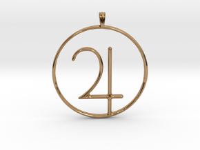JUPITER Planet symbolism Jewelry Pendant in Polished Brass