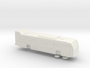 HO scale 2009-2013 Nova LFS bus (solid) in White Strong & Flexible