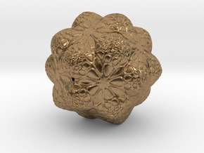 Christmas Tree Snowflake Ornament Smaller in Natural Brass