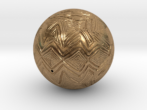 Christmas Tree Ornament #24 in Natural Brass