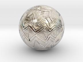Christmas Tree Ornament #24 in Platinum
