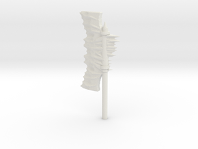 Daemonic Axe 03 Large in White Natural Versatile Plastic: Large