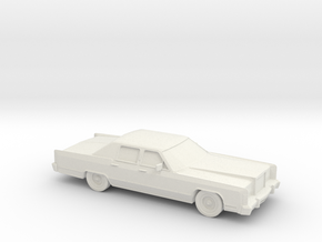 1/87 1978 Lincoln Continental 4 Door in White Natural Versatile Plastic