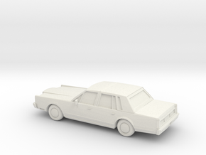 1/87 1983 Lincoln Town Car in White Natural Versatile Plastic