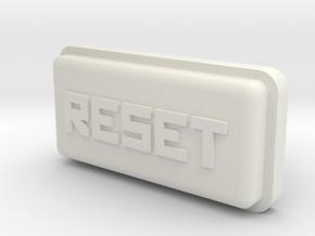 Uzebox Reset Button in White Natural Versatile Plastic