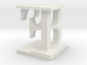 Two way letter / initial B&F in White Natural Versatile Plastic