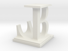 Two way letter / initial B&L in White Natural Versatile Plastic