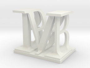 Two way letter / initial B&M in White Natural Versatile Plastic
