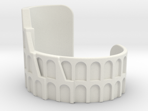 Colosseum Bracelet Size Medium in White Natural Versatile Plastic