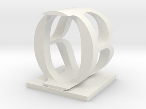 Two way letter / initial B&O in White Strong & Flexible
