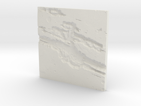 Mars Topographic map in White Natural Versatile Plastic