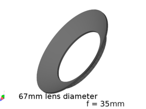 Lieberkühn Reflector 67mm lens diameter, f = 35mm in White Natural Versatile Plastic