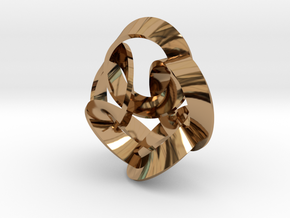 5 Twisted Loops Earring in Polished Brass