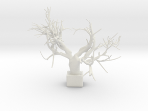 Heart Tree in White Natural Versatile Plastic