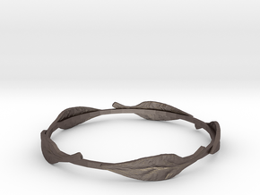 Leaf Bracelet in Polished Bronzed Silver Steel