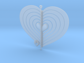 Heart Swap Spinner Flat - 15cm in Smooth Fine Detail Plastic