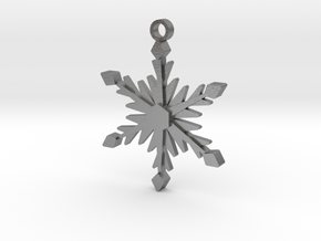 Icy Snowflake in Natural Silver