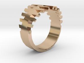 DEFENDER ring | size: 6.5 in 14k Rose Gold