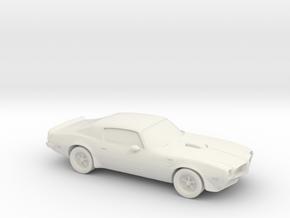 1/87 1973 Pontiac Firebird Trans Am in White Natural Versatile Plastic