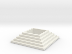 Stairs tealight 2 in White Natural Versatile Plastic