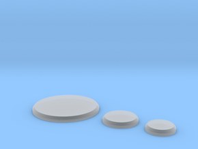 Bases 50mm 25mm 20mm in Smooth Fine Detail Plastic
