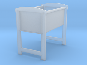 Doll's Bassinet (1:12 scale) in Smooth Fine Detail Plastic