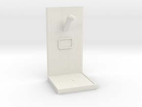 Future Shower Unit w/ Tech Lines 28mm to 32mm in White Natural Versatile Plastic