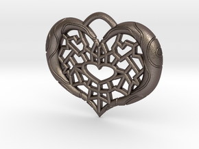 Twilight Princess Piece of Heart Webbing in Polished Bronzed Silver Steel