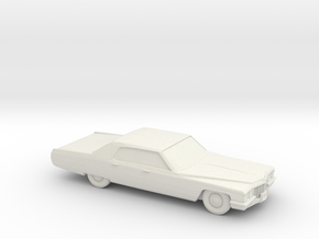 1/87 1972 Cadillac De Ville in White Natural Versatile Plastic