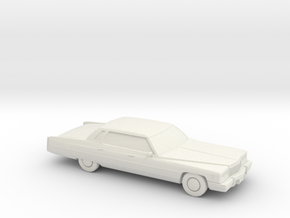 1/87 1975 Cadillac Sedan Deville in White Natural Versatile Plastic