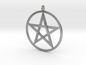 Pentacle Pendant - braided in Natural Silver