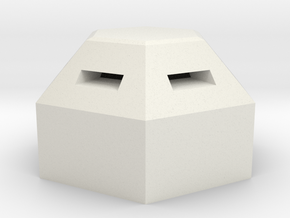 MG pillbox 6 in White Natural Versatile Plastic