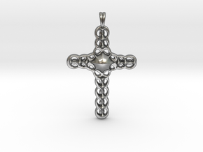 Design CROSS Jewelry Pendant in Silver | Gold  in Natural Silver