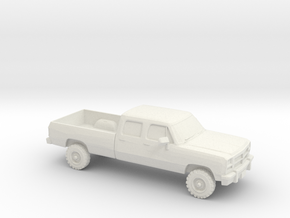 1/87 1993 Dodge Ram Crew Cab in White Natural Versatile Plastic