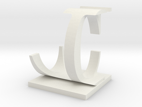 Two way letter / initial C&L in White Natural Versatile Plastic
