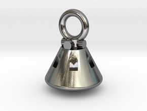 Orion Capsule Pendant in Polished Silver