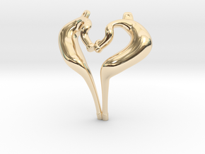 I Love 2-strokes Pendant Motorcycle Pipes in 14K Yellow Gold