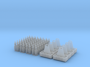 1:24 Quart Oil Bottles and Racks in Smooth Fine Detail Plastic