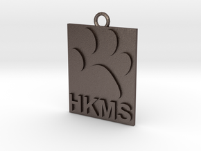 HKMS Keychain/Ornament in Polished Bronzed Silver Steel