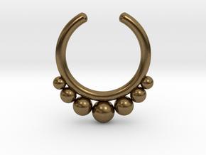 Septum Ring 1.5mm in Natural Bronze