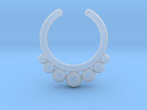 Septum Ring 1.5mm in Smooth Fine Detail Plastic