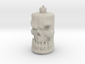 Skull Ornament in Natural Sandstone