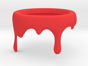 Paint Can - Pencil Holder Decoration in Red Processed Versatile Plastic