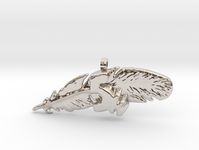 5K FEATHER NECKLACE in Platinum