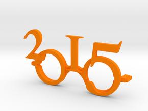 """2015""Frame front. in Orange Strong & Flexible Polished"