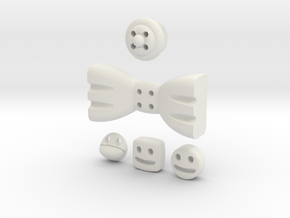 5 Mmoduttons to add to happiness in White Natural Versatile Plastic