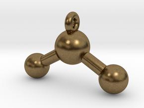 3D Printed Water Pendant Earring in Natural Bronze