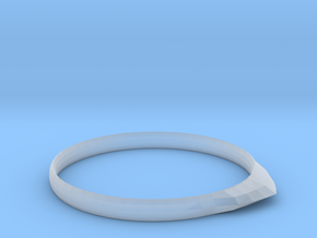 Edge Ring US Size 9.25 UK Size S 1/4 in Smooth Fine Detail Plastic